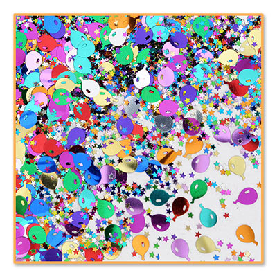 Balloons And Stars Table Confetti