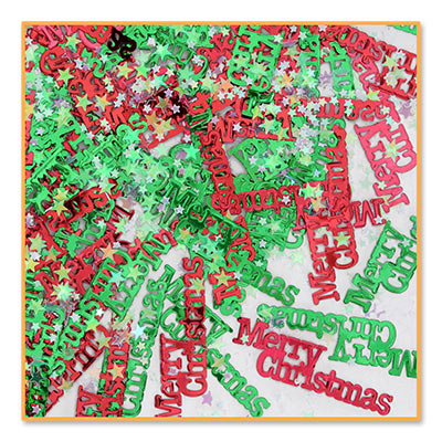 Merry Christmas Red & Green Table Confetti