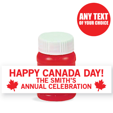Canada Day PERSONALIZED 150 Yrs Bubbles - 24 Pack