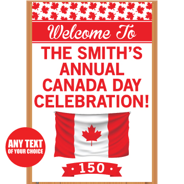 Canada Day 150 PERSONALIZED Giant Door Sign