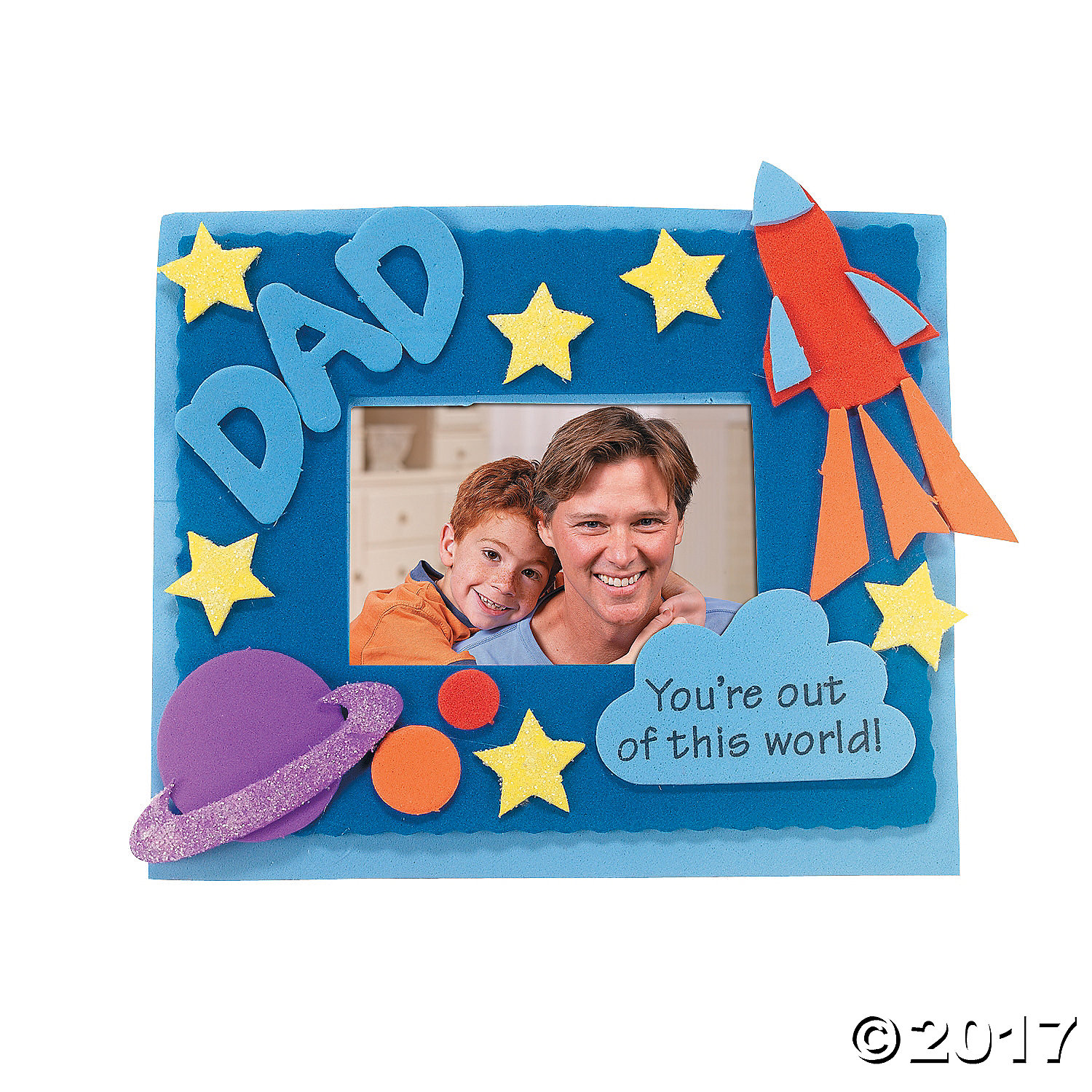 """Dad"" Picture Frame Magnet Craft Kit - 12 Pk"