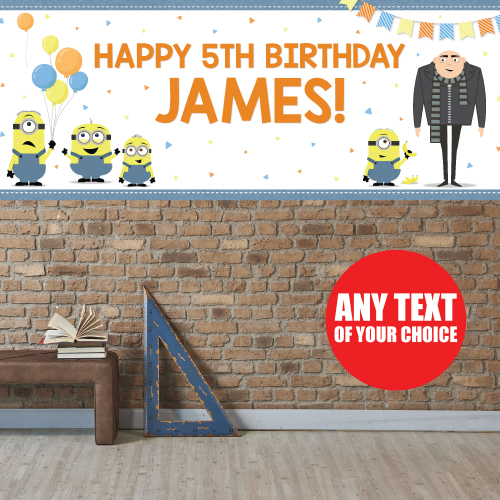 Despicable Me Party: PERSONALIZED Giant Banner