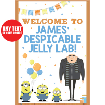 Despicable Me Party: PERSONALIZED Giant Door Banner