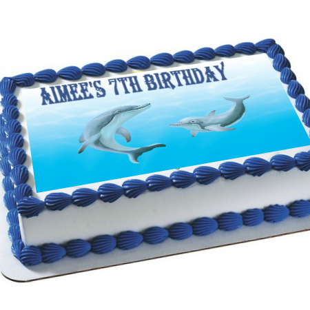 Dolphin 2 PERSONALIZED Edible Icing