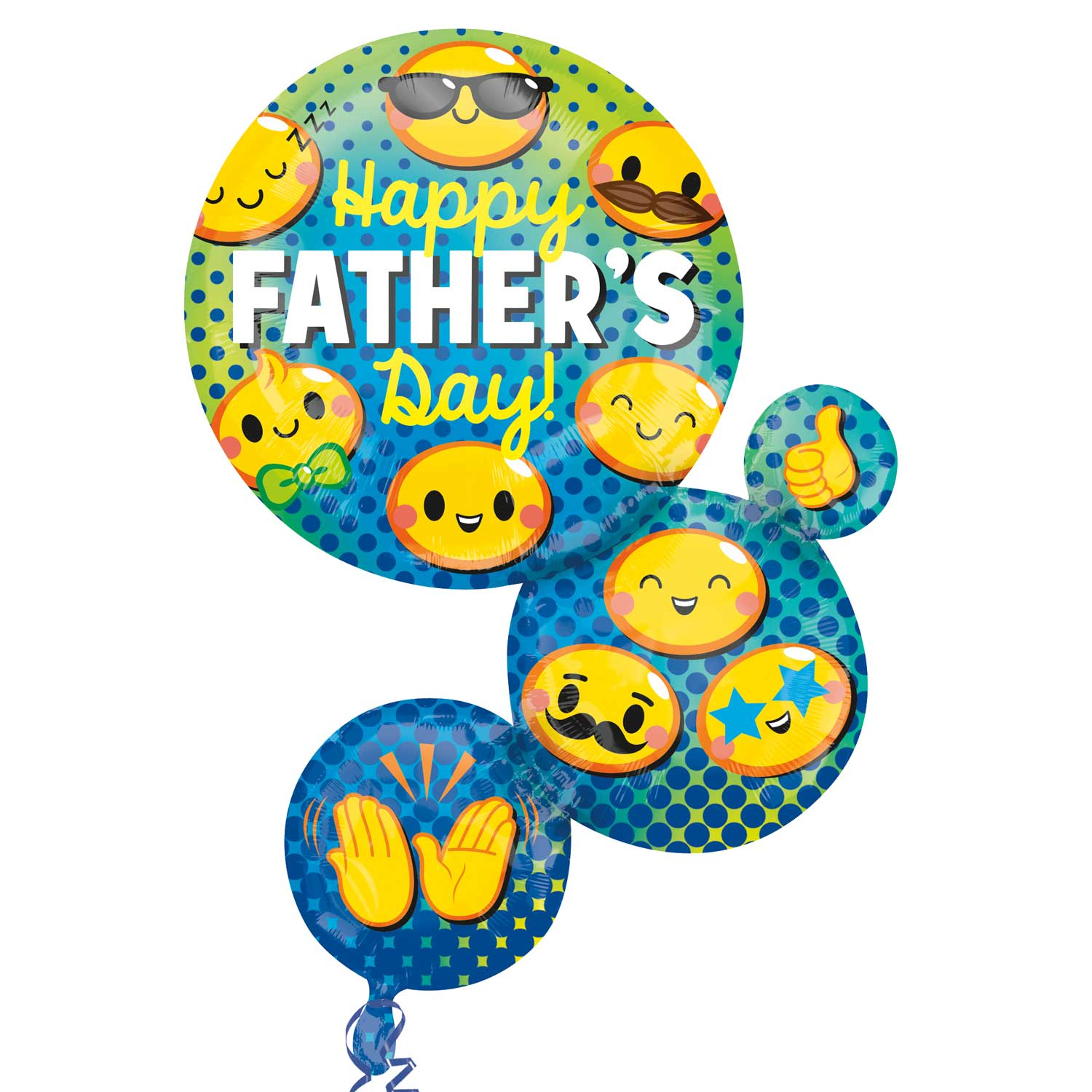 "Father's Day Emoji Bubbles 28"" SuperShape Balloon"