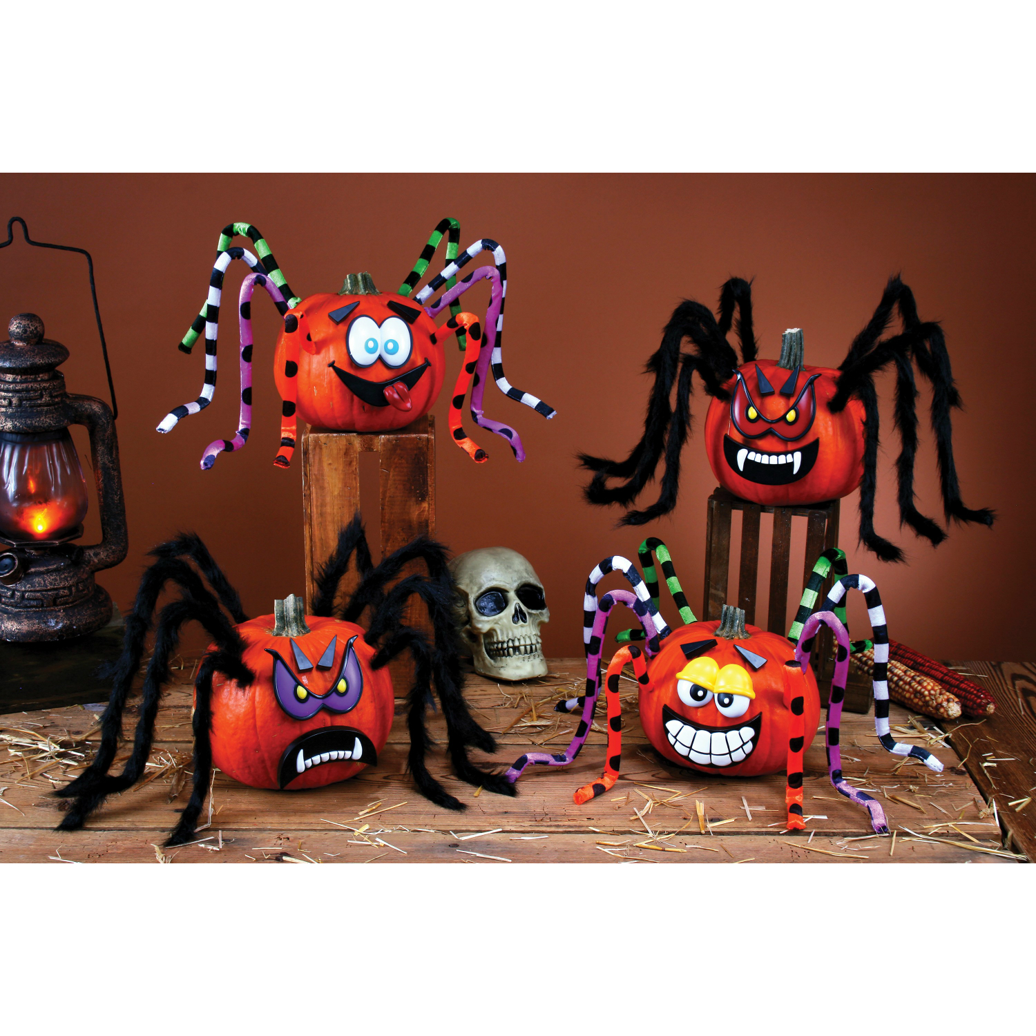 Crazy Legs Spider Pumpkin Decorating Kit Party Supplies