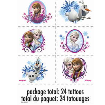 60% OFF: Frozen 24 Pack Deluxe Tattoos