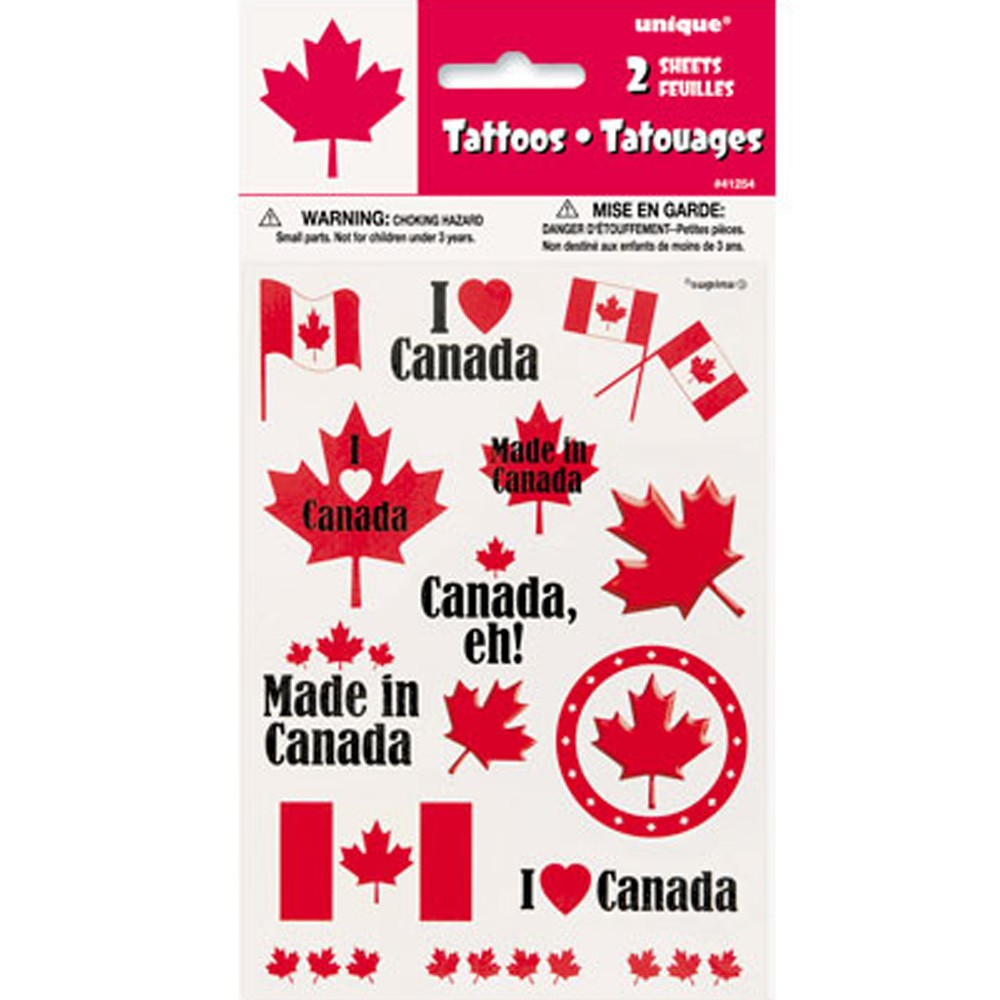 Canada Day Tattoos - 30 Pack