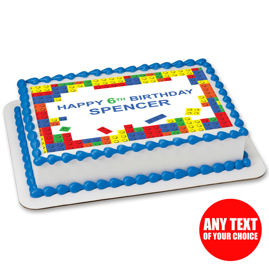Lego Personalizable Edible Icing