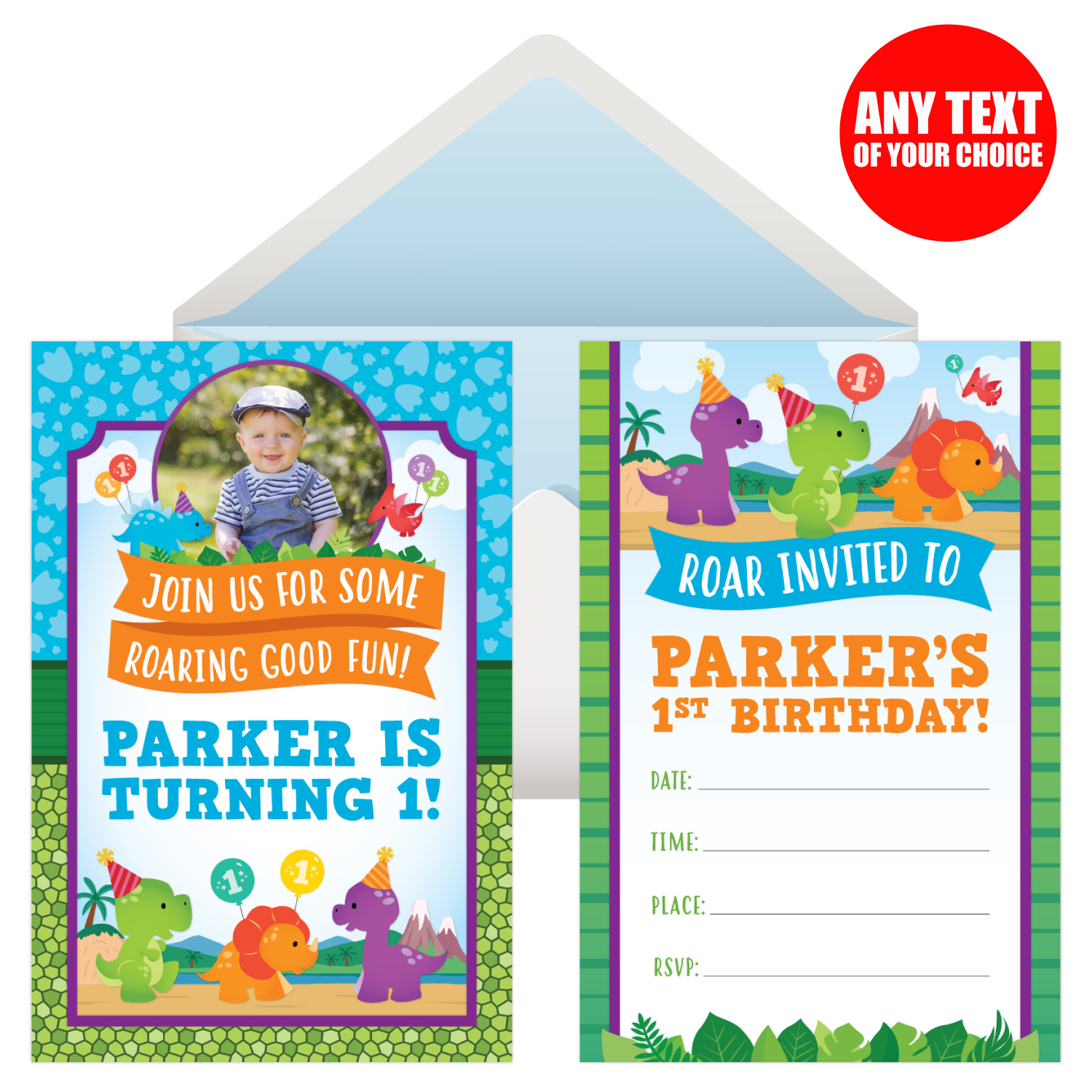 1st Birthday Dinosaur Invitations Image collections Invitation