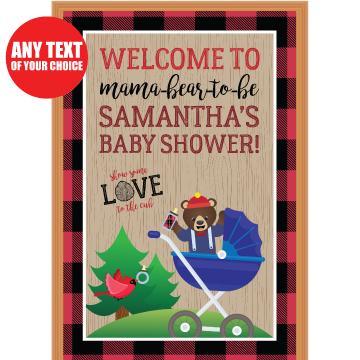 Canadian Lumberjack Baby Shower PERSONALIZED Giant Door Sign
