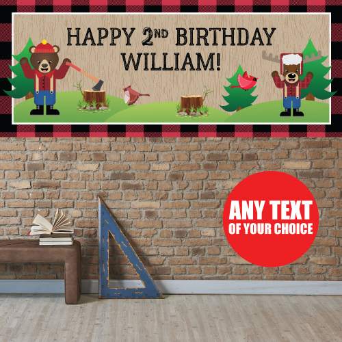 Canadian Lumberjack PERSONALIZED Giant Banner
