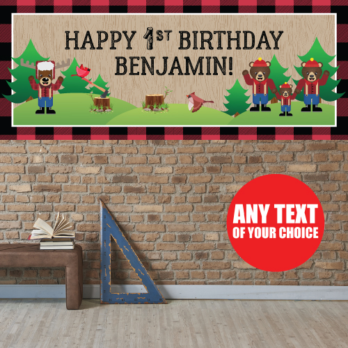 Canadian Lumberjack 1st PERSONALIZED Giant Banner