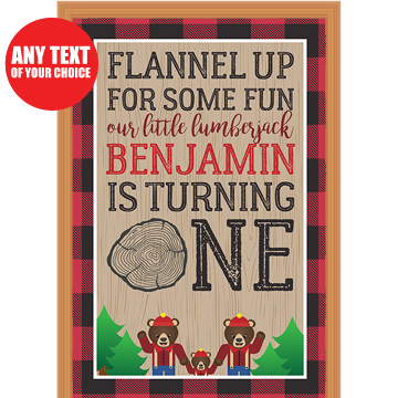 Canadian Lumberjack 1st PERSONALIZED Giant Door Sign