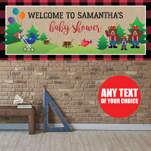 Canadian Lumberjack Baby Shower PERSONALIZED Giant Banner