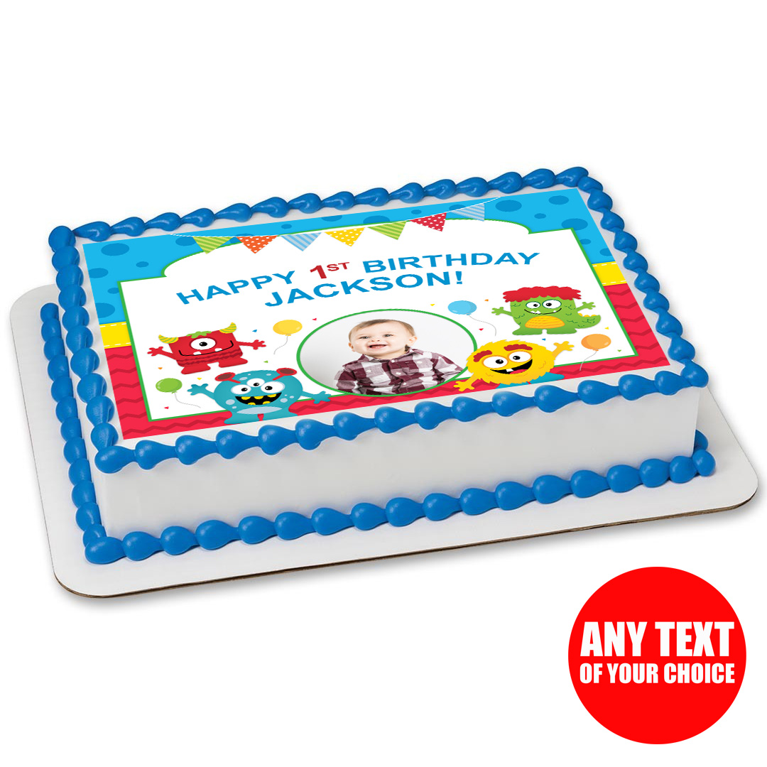Mini Monster Photo Personalizable Edible Icing Party Supplies Canada ...