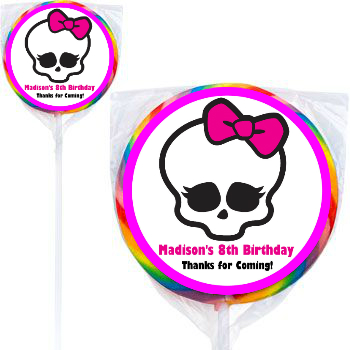 Monster High PERSONALIZED Large Lollipops - 12 Pk