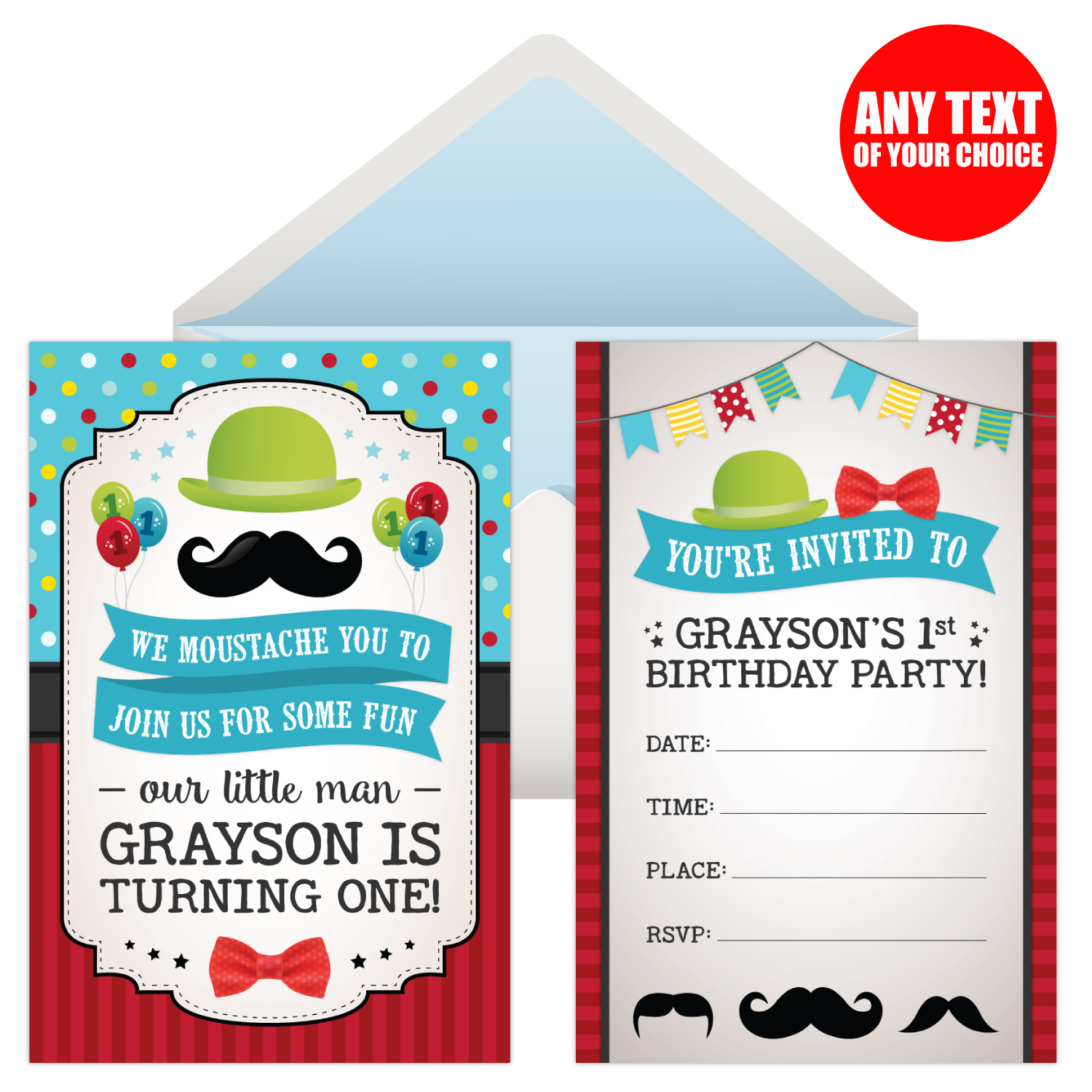 Little moustachemustache 1st birthday party supplies canada open moustache 1st bday personalized invites 8 pk filmwisefo