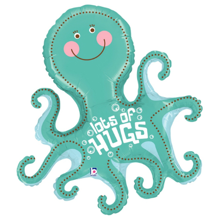 Lots Of Hugs Octopus Foil Balloon