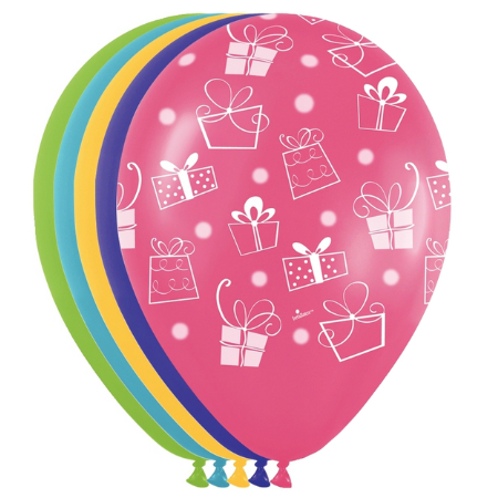 Presents All Over Assorted Latex Balloons 100 Pk