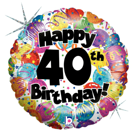 40th Birthday Party Foil Balloon