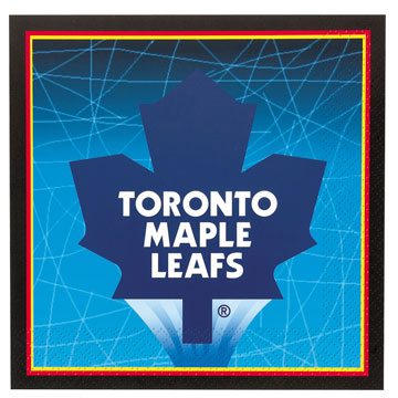 50% OFF: NHL Toronto Maple  Leafs Lunch Napkins 16 Pk