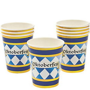 *Oktoberfest Party Cups - 8 Pack