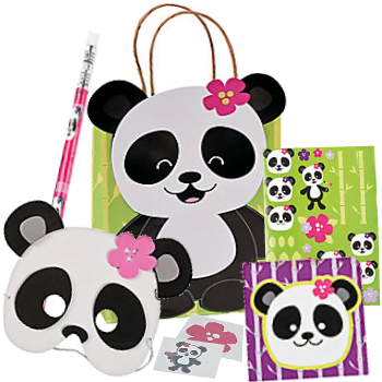 Panda Deluxe Kraft Bag Filled
