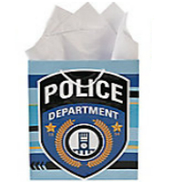 "Police Department 9"" Bag w/Handles"