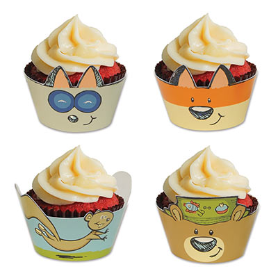 Woodland Friends Cupcake Wrappers - 8 Pk