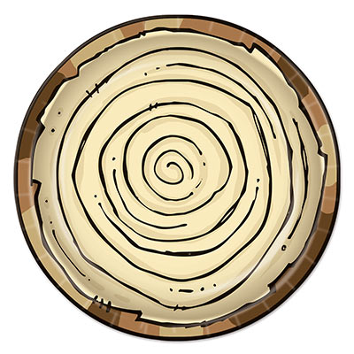 Woodland Camping Log Dinner Plates - 8 Pk