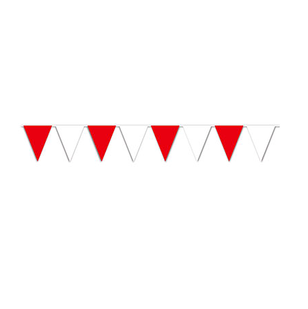 Red and White Pennant Banner 30 Ft