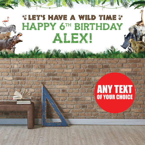 Safari PERSONALIZED Giant Banner