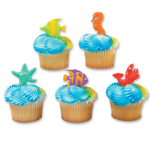 Under the Sea Cupcake Picks - 12 Pk