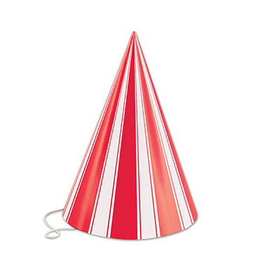 Party Striped Cone Hat 6.5""