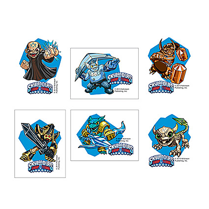 Skylanders Trap Team Tattoos 6 Pack