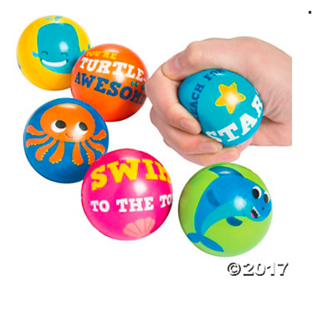 Under the Sea Stress Balls - 12Pk