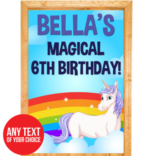 Unicorn Rainbow PERSONALIZED Giant Door Sign