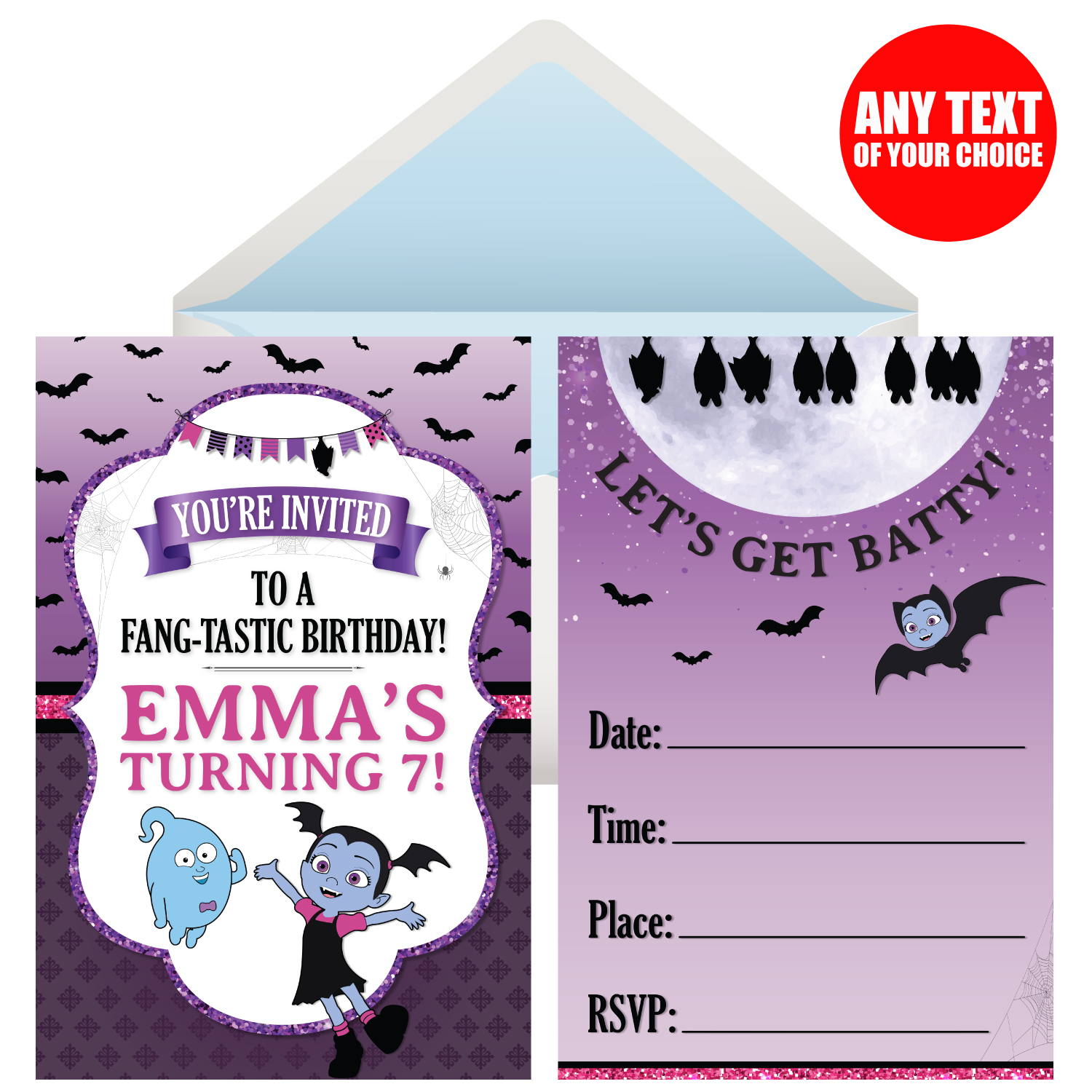 Vampirina PERSONALIZED Invitations   8 Pk