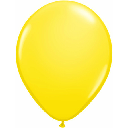 "Yellow 11"" Latex Balloons 100 Pk"