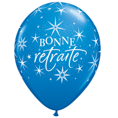 Bonne Retraite Latex Balloons 50 Pk Party Supplies