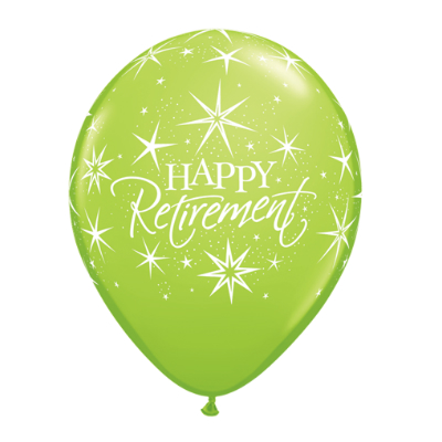 Retirement Bursts Assorted Latex Balloons 50 Pk