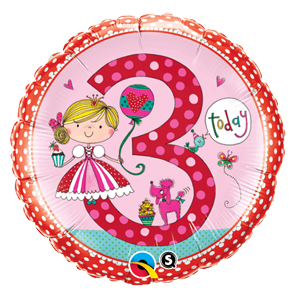 "3 Princess 18"" Balloon"