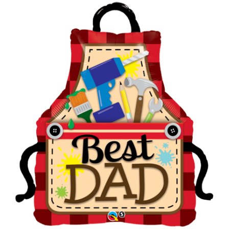 "Best Dad Apron 41"" Foil Balloon"
