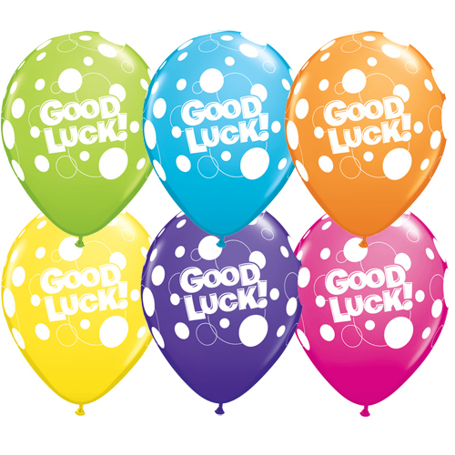 Good Luck Dots Assorted Latex Balloons 50 Pk