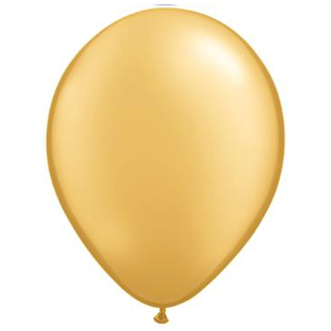 "Gold 5"" Latex Balloons 100 Pk"