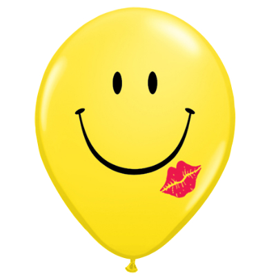 Emoji Smile & Kiss Latex Balloons 50 Pk