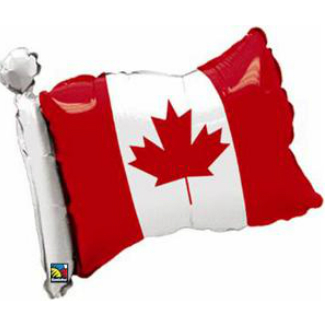 50% OFF: Waving Canadian Flag Large Air Fill Balloon