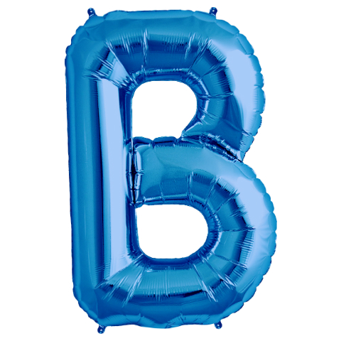 "Letter ""B\"" Blue Supershape Foil Balloon"