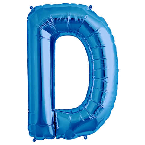 "Letter ""D\"" Blue Supershape Foil Balloon"